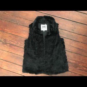 Milly designer fur vest sequins